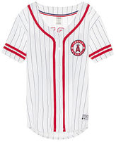 PINK Los Angeles Angels Button Down Jersey
