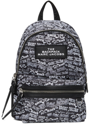 Marc Jacobs Black Robert Crumb Edition Medium Backpack