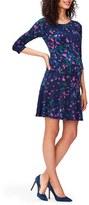 Leota Women's 'Kelsey' Print Drop Waist Maternity Dress