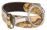 Gucci Python Buckle Belt