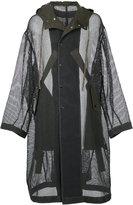Miharayasuhiro net coat - men - Cotton/Polyester/Rayon - 44