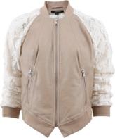 LAMARQUE Lace Sleeve Bomber Jacket