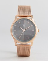 Limit Mesh Strap Watch In Rose Gold Exclusive To Asos