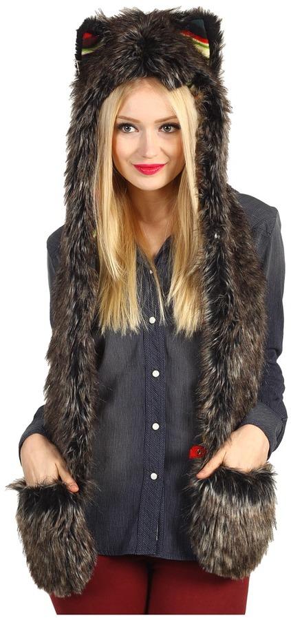 Spirit Hoods SpiritHoods - Mountain Mystic Wolf Big Bear Full Hood (White) - Hats
