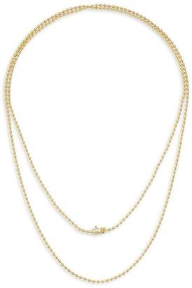 Maria Canale Flapper 18K Yellow Gold & Diamond Single Strand Necklace