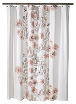 """Threshold Flat Weave Shower Curtain Coral Blooms (72""""x72"""
