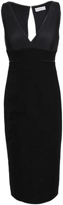Amanda Wakeley Cutout Crepe And Tulle-paneled Dress