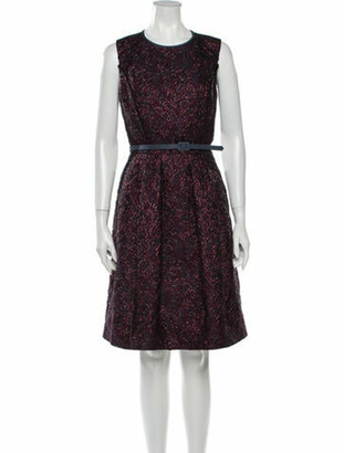 Oscar de la Renta 2016 Knee-Length Dress Purple