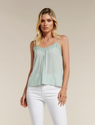 Forever New Veronica Lace Cami - Silent Sage - 10