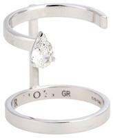 Repossi Serti Sur Vide 18kt White Gold Ring With Pear Diamond