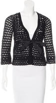 Robert Rodriguez Crocheted Three-Quarter Sleeve Cardigan
