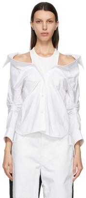 alexanderwang.t White Off-Shoulder Shirt