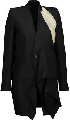 Rick Owens Candy Ruffled Cotton-twill Coat