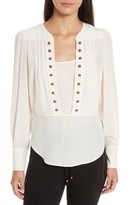Tracy Reese Women's Button Front Silk Blouse