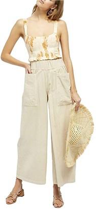 Free People Cosmic Way's Wide Leg (Ivory) Women's Casual Pants