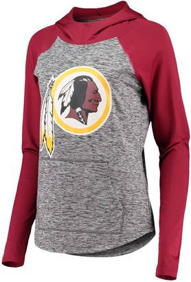 Redskins Women's G-III 4Her by Carl Banks Heathered Gray/Burgundy Washington Championship Ring Pullover Hoodie