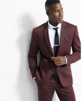 Express slim photographer cotton sateen suit jacket