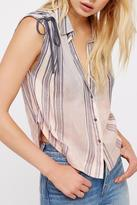 Free People Dip Dyed Buttondown