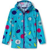 Lands' End Girls Packable Navigator Pattern Jacket-Calypso Blue Floral