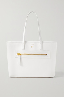 Tom Ford Textured-leather Tote - Ivory