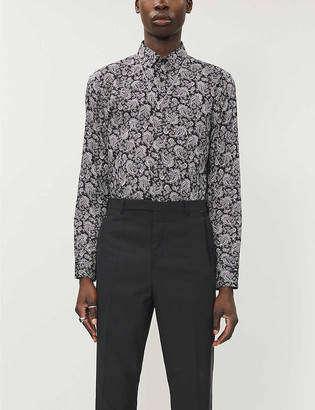 The Kooples Paisley-print relaxed-fit cotton shirt