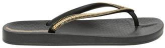Ipanema Metallic Black Sandal