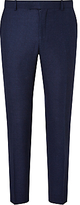Richard James Mayfair Speckled Wool Flannel Slim Suit Trousers, Cobalt Blue