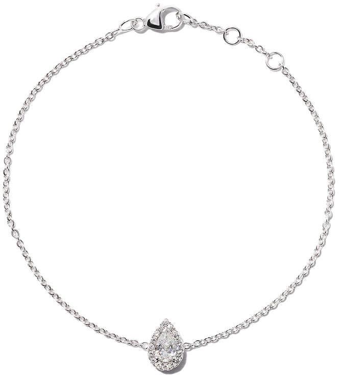 De Beers 18kt white gold Aura pear-cut diamond bracelet