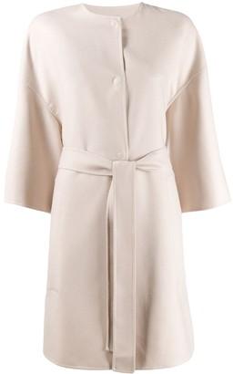 Agnona Cropped Sleeve Belted Coat