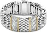 Lagos 18K Gold & Sterling Silver Diamond Lux Double Station Bracelet, 23mm