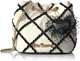 Betsey Johnson Cross Your Heart Drawstring