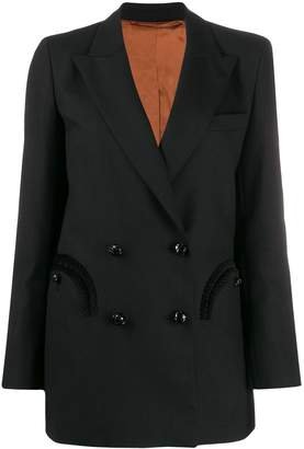 BLAZÉ MILANO fitted double-breasted blazer