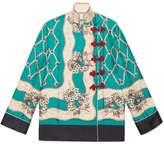 Gucci Garden Chains print silk shirt