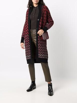Salvatore Ferragamo Intarsia-Knit Cardi-Coat