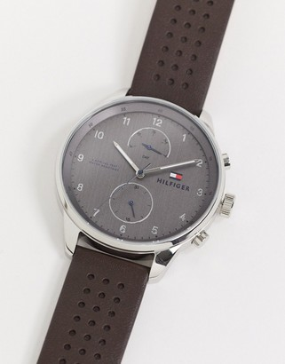 Tommy Hilfiger Tommy Hiliger chase watch in black