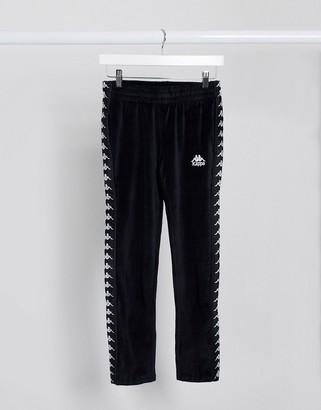 Kappa melody tracksuit pants in black