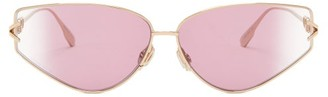 Christian Dior Diorgypsy2 Small Cat-eye Metal Sunglasses - Pink