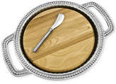 Wilton Armetale Flutes and Pearls Cheeseboard with Handles and Spreader