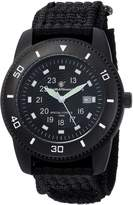 Smith & Wesson Men's Commando Watch with 3ATM/Japanese Movement/Stainless Steel Caseback/Glowing Hands/Nylon Strap