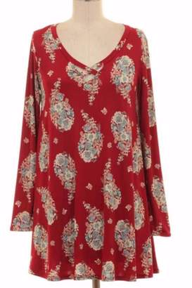 Couture Kitty Red Paisley Tunic