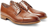 Paul Smith Ernest Cap-toe Polished-leather Derby Shoes - Tan