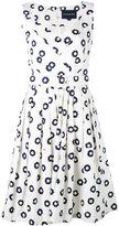 Samantha Sung printed v-neck dress - women - Cotton/Spandex/Elastane - XL