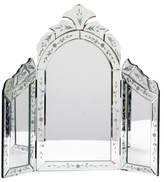 Twos Company Reggia Venetian Style Dressing Table Wing Mirror