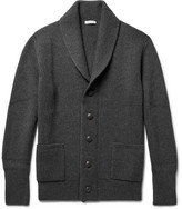 Tomas Maier Shawl-Collar Ribbed Wool Cardigan