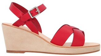 A.P.C. Judith wedge-heeled sandals