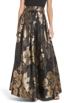 Eliza J Women's Metallic Jacquard Ball Skirt