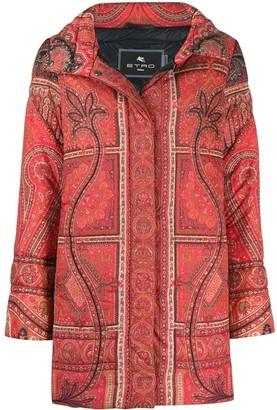 Etro Paisley Print Padded Coat