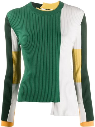 Enfold Ribbed Colour-Block Jumper