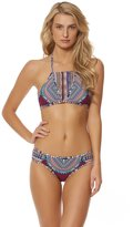 Red Carter Women's Tribal Daze Halter Strappy Triangle Bikini Top