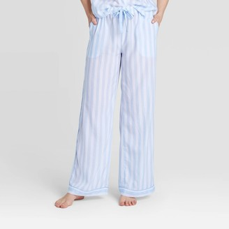 Stars Above Women's Striped Simply Cool Pajama Pants - Stars AboveTM Blue Sky